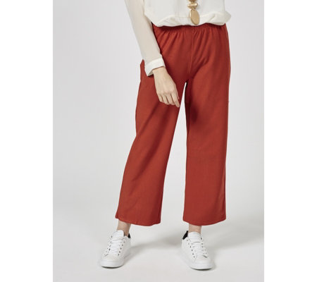 WynneLayers Cropped Straight Leg Crepe Trouser