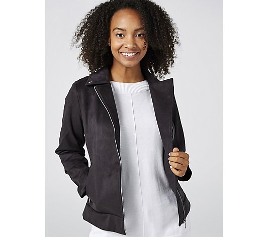 Centigrade Faux Suede Stretch Jacket
