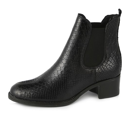 Moda in Pelle Colido Croc Leather Ankle Boot