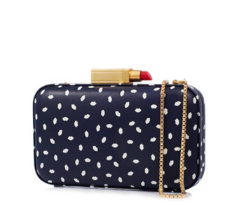 Lulu Guinness Fifi Mini Lip Print Leather Clutch Bag - 164124
