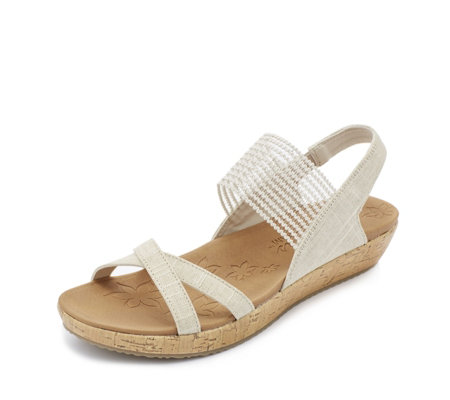 Skechers Brie Sparkle Stretch Vamp Sling Back Sandal