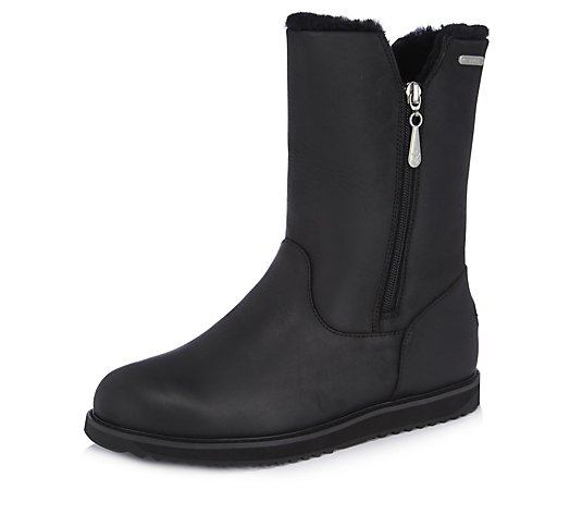 Emu All Weather Waterproof Gravelly Leather Zip Boot