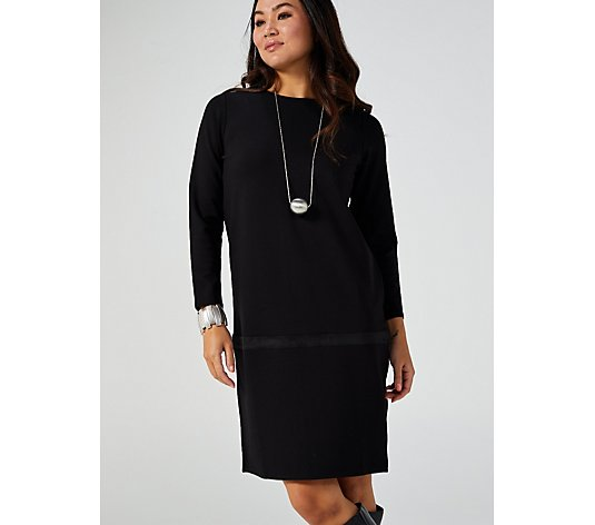 MarlaWynne Ponte Dress with Faux Suede Trim