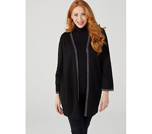 Frank Usher Sparkle Edge to Edge Knitted Duster Cardigan