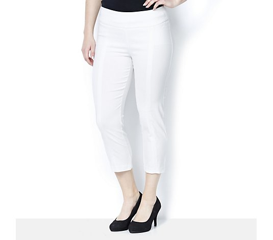 Cropped Pull On Trouser with Tummy Control by Nina Leonard