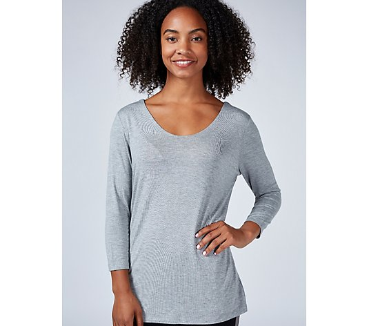 Ruth Langsford Double Layer 3/4 Sleeve V Neck Top