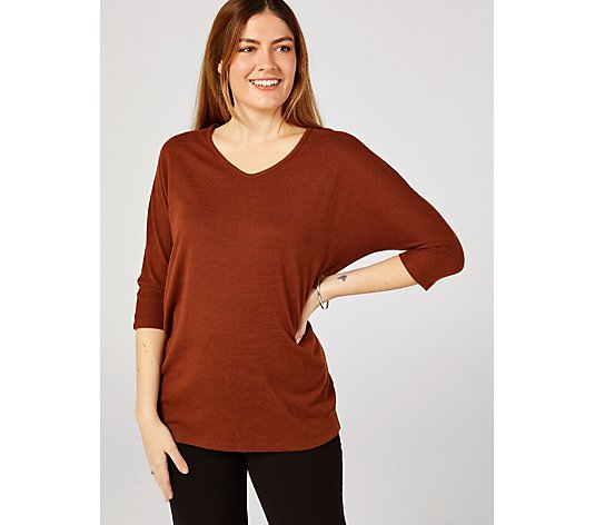 Kim & Co Soft Touch Dolman Sleeve V Neck Tunic