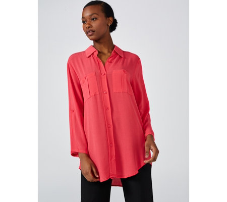 Antthony Designs 3/4 Length Sleeve Button Up Shirt
