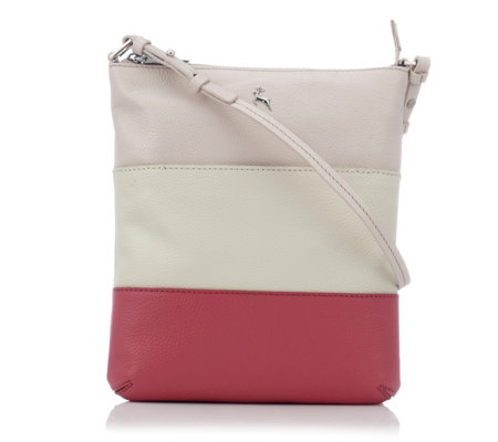 Ashwood Grainy Leather Panel Crossbody Bag