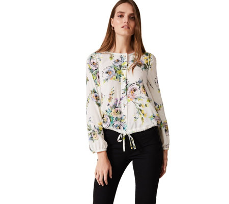 Phase Eight Franchesca Floral Print Top