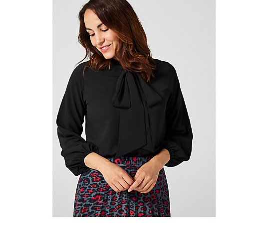 Outlet Ben de Lisi Neck Tie Blouse