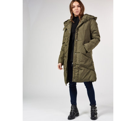 Centigrade Machine Washable Feather & Down Hooded Coat