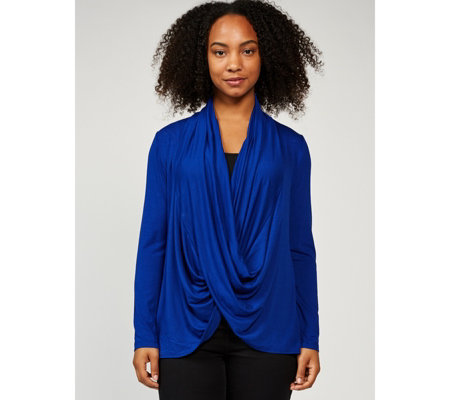 Mr Max Cowl Front Long Sleeve Top