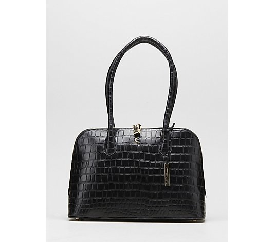 Ashwood Aspen Croc Dome Shoulder Bag