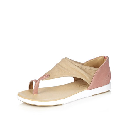 Emu Yarra Suede Leather Closed Back Toepost Sandal