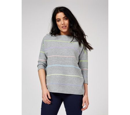 Phase Eight Piera Rainbow Stripe Knit Jumper