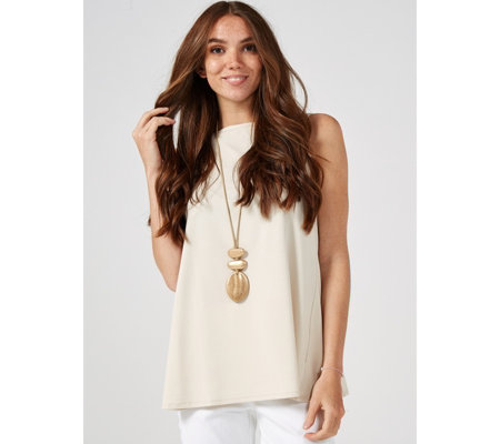 MarlaWynne Boat Neck Sleeveless Butterfly Top