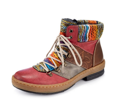 Rieker Stripe Detail Lace Up Boot