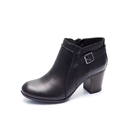 Outlet Clarks Enfield Kayla Buckle Ankle Boot Wide Fit