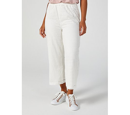 WynneLayers Eyelet Wide Leg Trousers