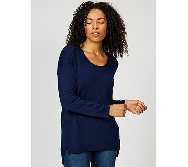 Knitted Raw Edge Seam Tunic by Michele Hope - 164529