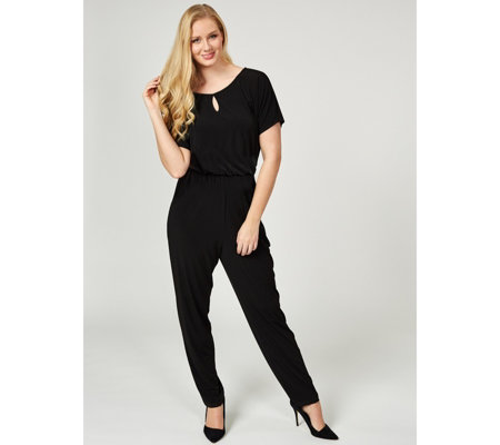 Kim & Co Brazil Jersey Keyhole Jumpsuit Regular Length