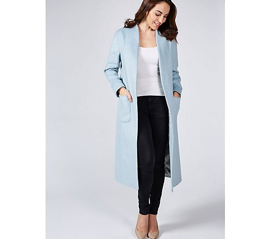 Helene Berman Edge To Edge Coat with Patch Pockets