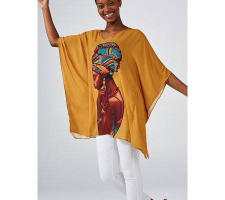 Antthony Designs V Neck Loose Fit Kaftan