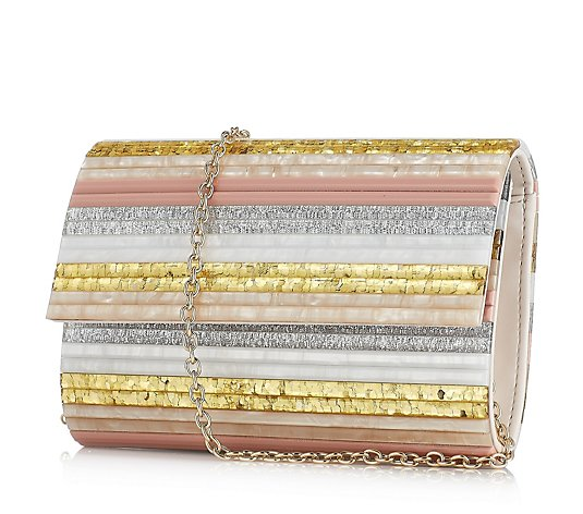 Moda in Pelle Seapearl Clutch Bag