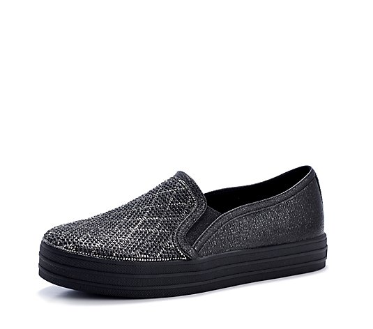 Outlet Skechers Street Double Up Diamond Slip On Trainer