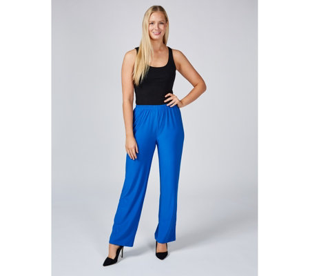 Antthony Designs Straight Leg Pull On Trousers with Stretch Waist
