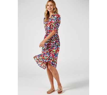 Joile Moi Tie Neck Midi Dress
