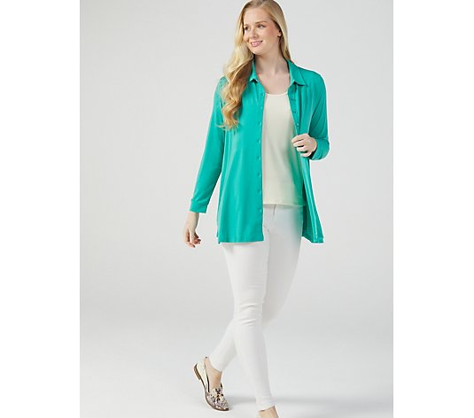 Swing Hem Shirt with Pockets by Michele Hope