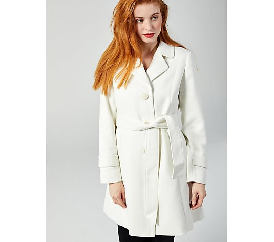 Centigrade Twill Knit Belted Trench Coat