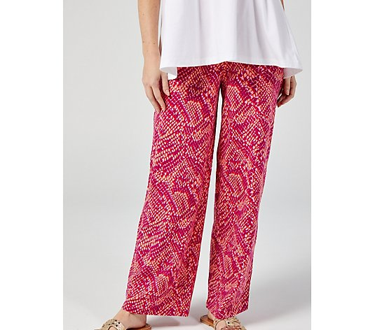 Denim & Co. Printed Pull On Trousers with Pockets