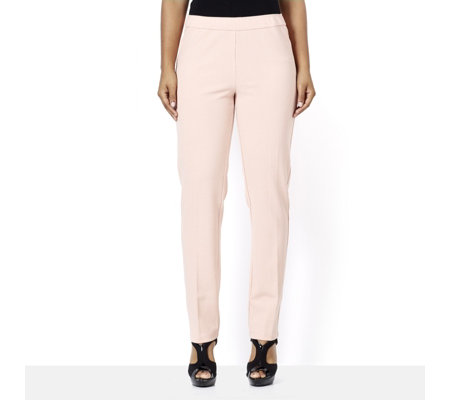 Stretch Crepe Slim Leg Regular Trouser by Nina Leonard