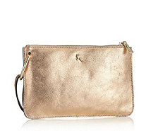Ashwood Mini Leather Crossbody Bag with Metal Ring Detail - 171131