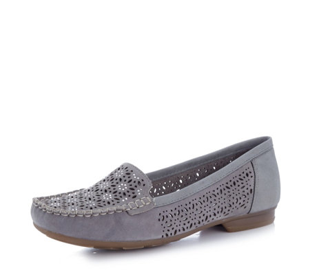 Rieker Laser Cut Detail Loafer Shoe