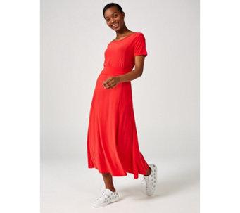 839508b1d17 Short Sleeve Belted Dress by Nina Leonard - 173231