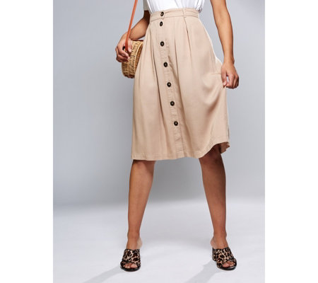 Phase Eight Bel Marie Button Skirt