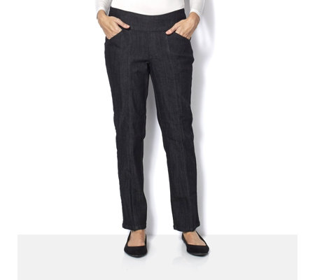 "Denim & Co. ""How Smooth"" Straight Leg Regular Jean"