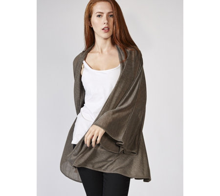 Join Clothes Fine Crepe Cardigan with Fluted Sleeves