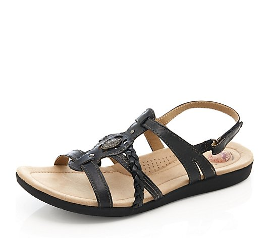 Earth Spirit Leather Multi Strap Sandal