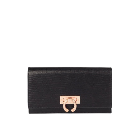 Amanda Wakeley The Lennon Leather Ring Lock Purse
