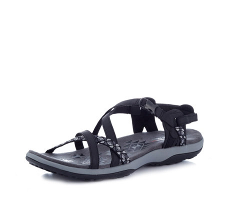 Skechers Reggae Slim Vacay Strappy Adjustable Slingback Shoe