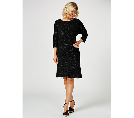 Ronni Nicole Knit Dress with Glitter & Side Tie Detail