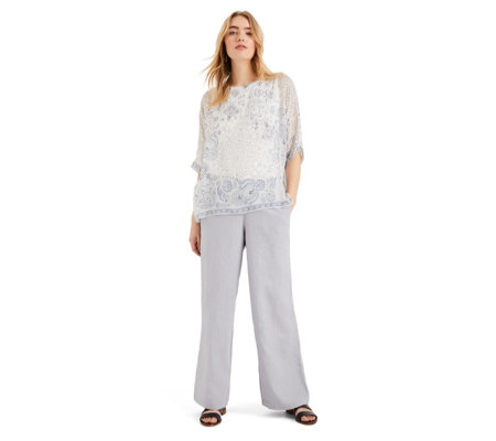 Phase Eight Lex Linen Wide Leg Trousers