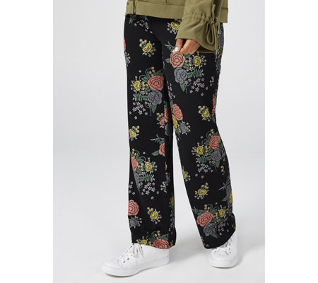 Attitudes by Renee Pull On Novelty Straight Leg Trouser