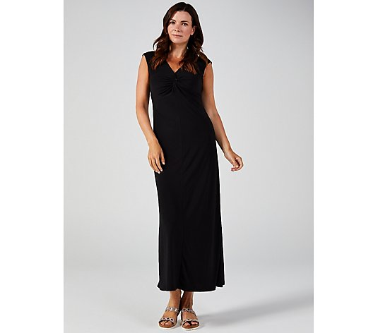 Attitudes by Renee Como Jersey Knot Front Maxi Dress