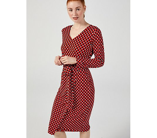 Ruth Langsford Printed Tie Front Long Sleeve Wrap Dress